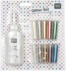 Glitter set 11-pack inklusive lim