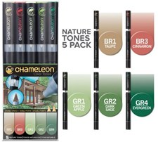 Chameleon 5-pack Pen Marker Nature Tones