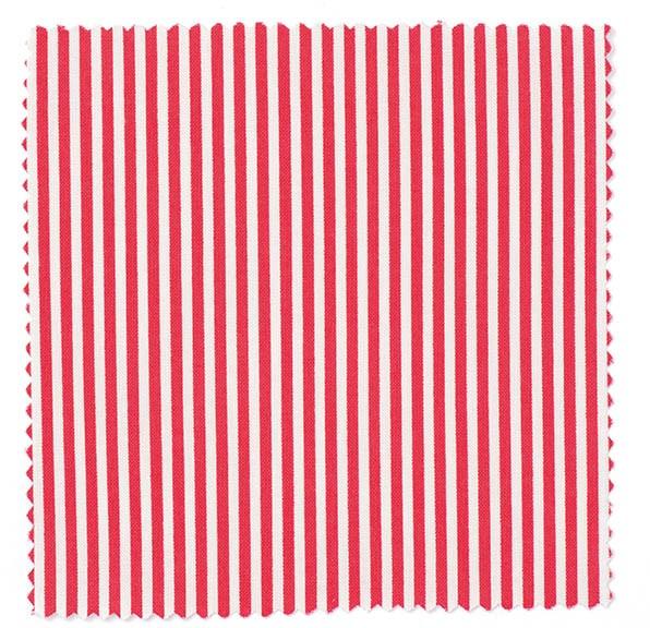 Stoff Striper Rød/Hvit, 50 x 160 cm