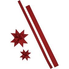 Stjernestrimler, B: 15+25 mm, L: 44+78 cm, rød, 24strimler, tykkelse 350 g