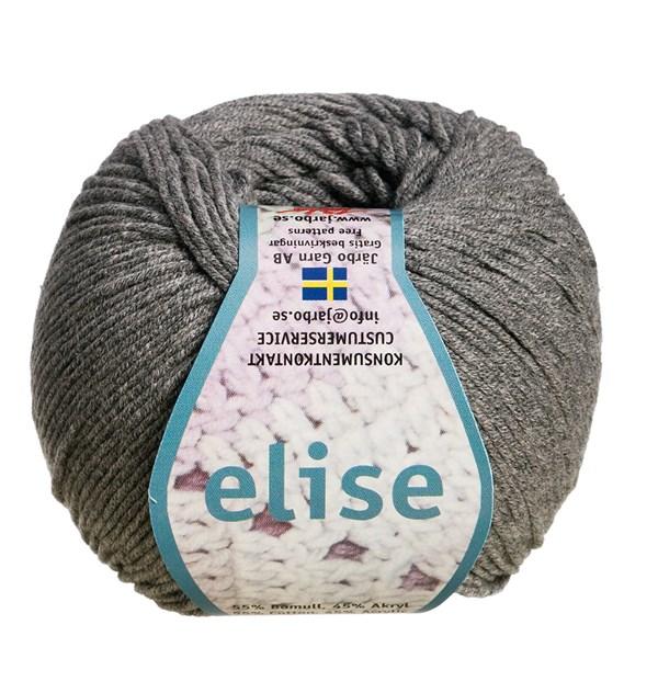 Elise Garn Bomullsmix 50g Grå Melangé (69219)