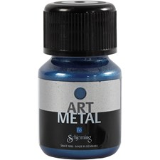 Art Metall maling, galaxy blå, 30ml