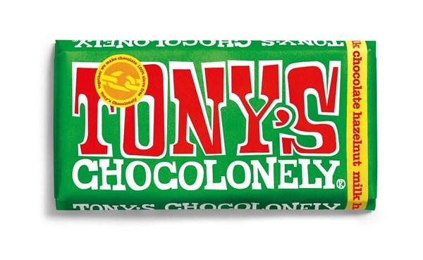 Tony´s Choklad Milk Chocolate Hazelnut 180 g
