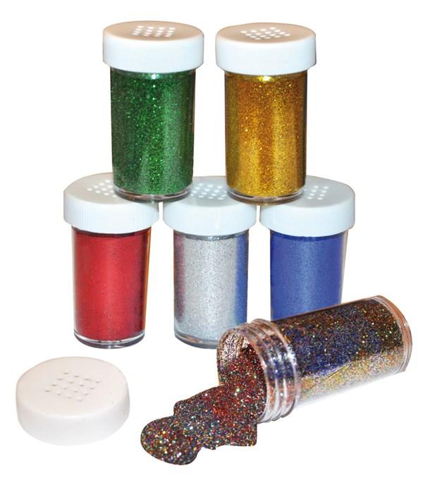 Glitterströssel Playbox 20g Basfärger 6 st