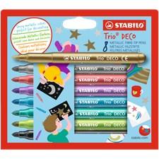 STABILO Trio Deco 8/fp Metallisk fargeleggingspenner, linjebredd 1,4 mm