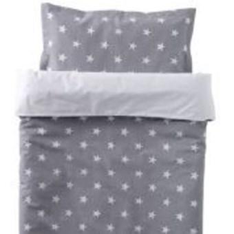 Påslakanset för vagn  Big Star grå  NG baby  NG Baby - barnsängkläder