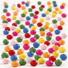 Träpärlor 4 mm Mix 300 g