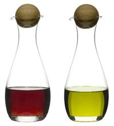 Flasker til olje og eddik, Oval Oak, 30 cl, Sagaform