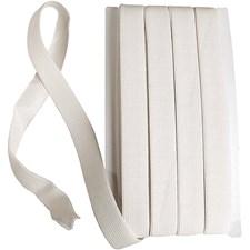 Elastikkbånd, B: 20 mm, 25 m, hvit