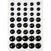 Rhinsten, str. 6+8+10 mm, 40 ass., svart