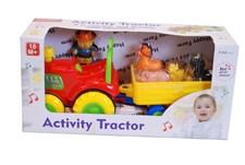 Traktor Med Vagn Och Djur