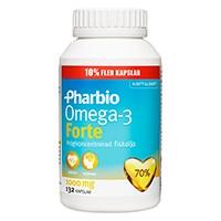 Pharbio Omega-3 Forte, 132 kapslar