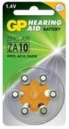 Hörapparatsbatterier ZA10 Zink Luft 1,4 V 6 st