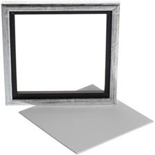 Sveveramme m. maleplate, utv. mål 20x20 cm, dybde 1,5 cm, 1 stk.
