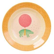 Dyp tallerken, Animal, Lyserosa, Rice