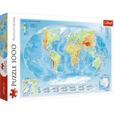 Physical Map of the World, Pussel, 1000 bitar, Trefl