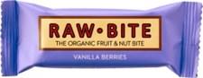 Raw Bite Raw Frukt- & Nötbar Bär & Vanilj 50 g Ekologisk