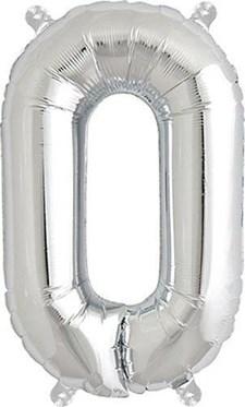 """Bokstavsballong, Rico, """"O"""", Silver, 36 cm."""