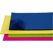 Silkespapper Veckat 28x17,8 cm Olika Färger 8 Ark
