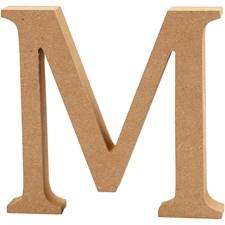 Träbokstäver M 13 cm MDF 1 st