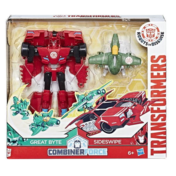 Combiner Force Crash  Geat Byte & Sideswipe  Robots In Disguise  Transformers