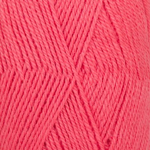 Drops, Flora Uni Colour, Garn, Ullmiks, 50 g, Korall 19