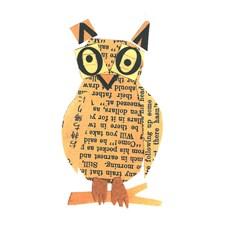 Gratulasjonskort D. Fiedler Owl