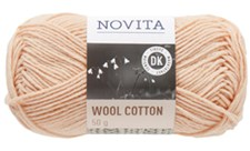 Novita, Wool Cotton, Garn, Ullmiks, 50 g, Pudder 602