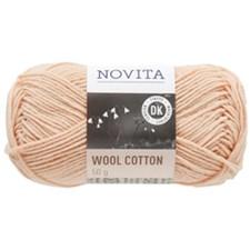 Novita Wool Cotton Garn Ullmix 50 g, pudder 602