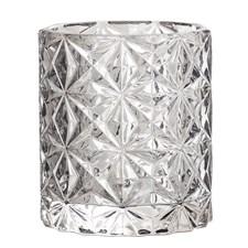 Bloomingville Lysholder Glass Diameter 8 cm, Høyde 9 cm Grå