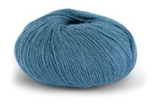 Knit At Home Superfine Alpacka Merino Garn Ullmix 50 g Denimblå 122