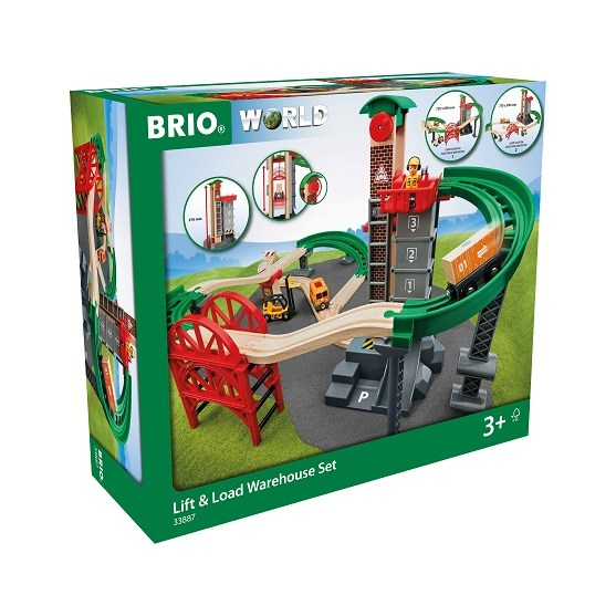 BRIO World - 33887 Set med hisschakt och broar