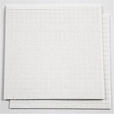 Klebeputer 3D, str. 5x5 mm, tykkelse 1 mm, hvit, 2ark