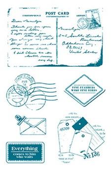 Stempel, silikon, Post, 10 x 18,5 cm