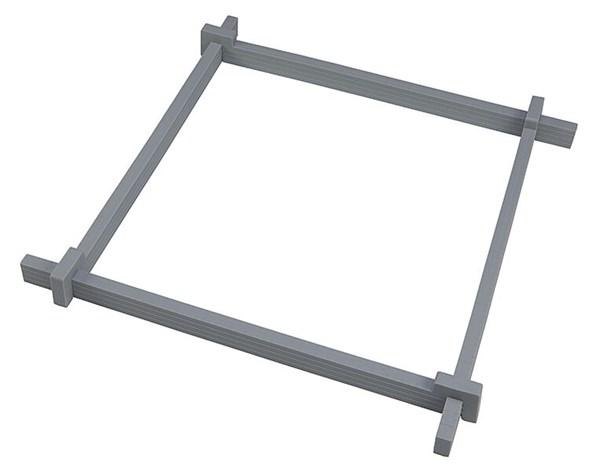 Justerbar ramme til kake/konfekt, 30 x 30 cm, Pufz
