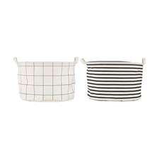 House Doctor Squares/Stripes Tvättpåse Bomull/Ployester D: 40 H: 25 cm