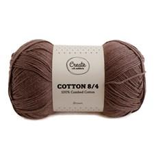 Adlibris Cotton 8/4 Garn 100g Brown A127