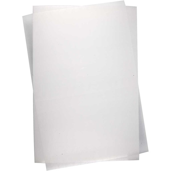 Krympeplast, ark 20x30 cm, 10 ark, Matt transparente