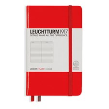 LT NOTEBOOK A6 Hard red 185 p. ruled