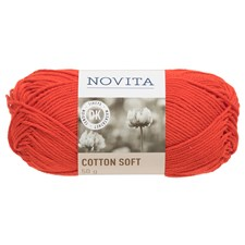 Novita Cotton Soft 50 g, Robin 543