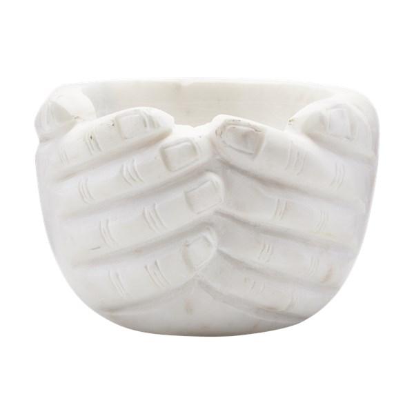 House Doctor Skål Händer Marmor Vit - tallrikar   skålar  f43d5055fff70