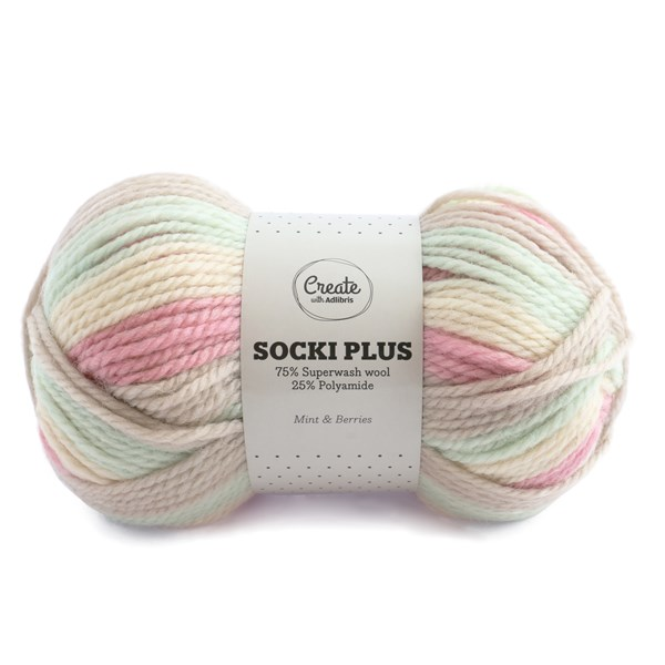 Adlibris Socki Plus Garn 100g Mint & Berries B033