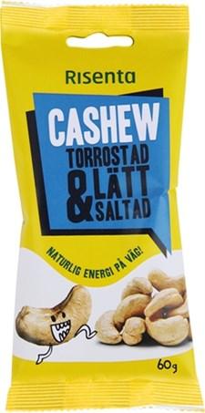 Risenta Cashewnötter Torrostade Lättsaltade, 60 g