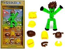 StikBot Action pack, Hair styling, Grön