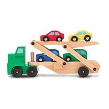 Biltransporter med 4 biler, Melissa & Doug