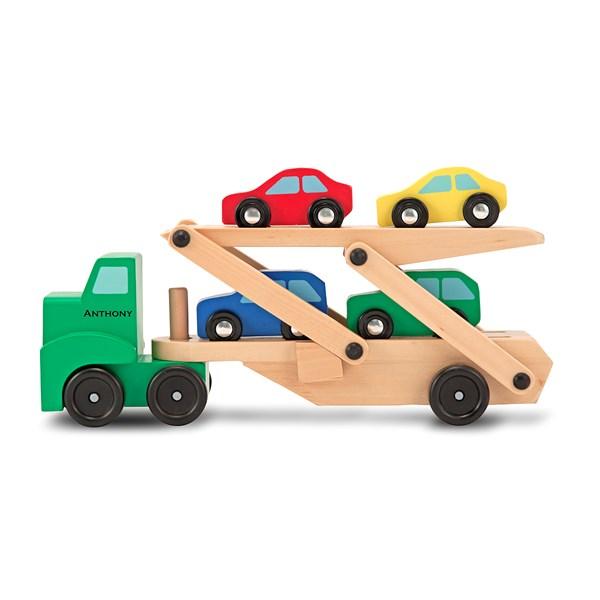 Biltransport med 4 bilar  Melissa & Doug - leksaksbilar & fordon