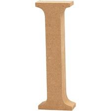 Träbokstäver I 13 cm MDF 1 st
