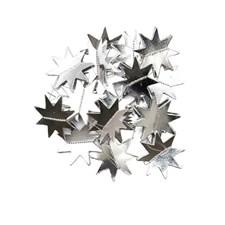 Girlander, Stjerner, 1,3 m, Sølv, Rico Design