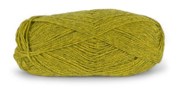 Du store Alpakka Tynn 50 g Gulgrønn Melert 116