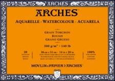 Arches Rough Block för Akvarellfärger 300g 36x51 cm 20 ark limmade på 4 sidor